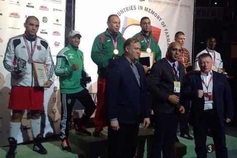 حسن سعادة يحرز ذهبية الوزن الثقيل لكأس العالم للبلدان النفطية بروسيا