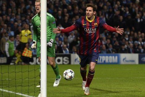 برشلونة يعيد أقدام لاعبي السيتي إلى الأرض بهدفين لميسي وألفيش
