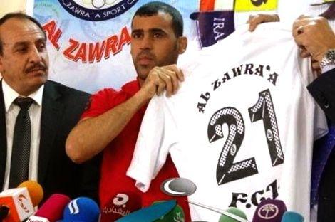 لاعب عراقي يوقع عقدا احترافيا بقيمة دينار واحد