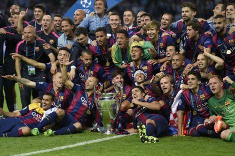 تتويج برشلونة بأبطال أوروبا
