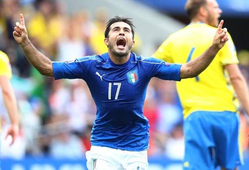 قذيفة إيدر تمنح الآزوري فوزا ثمينا على السويد وتصعد به للدور الثاني في يورو 2016