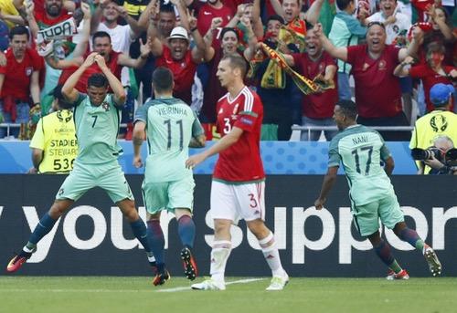 البرتغال تفلت بثنائية رونالدو وترافق المجر وأيسلندا للدور الثاني بيورو 2016