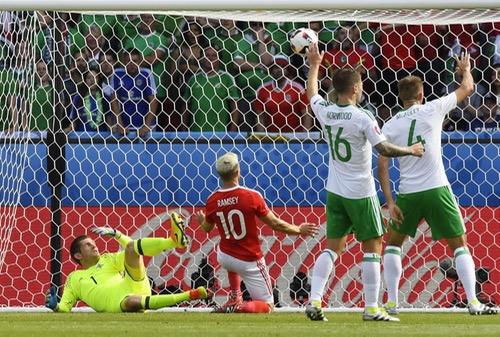 """النيران الصديقة تقود ويلز لتأهل تاريخي لدور الثمانية في """"يورو 2016"""""""