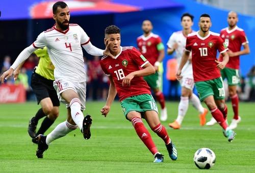 """""""فيفا"""" تختار أمين حارث رجل مباراة المغرب وإيران"""