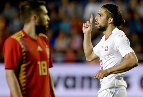 سويسرا تفرض التعادل على إسبانيا وديا استعدادا لنهائيات كأس العالم بروسيا