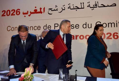 لقجع والعلمي بعد عبور ملف المغرب للتصويت: فخر واعتزاز.. اختيار المملكة لتنظيم المونديال حُلم يَقْترِب