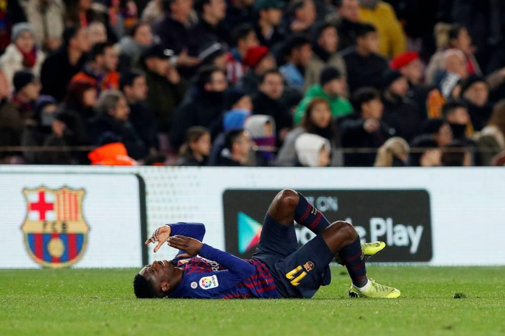 برشلونة الإسباني يكشف عن طبيعة إصابة ديمبيلي