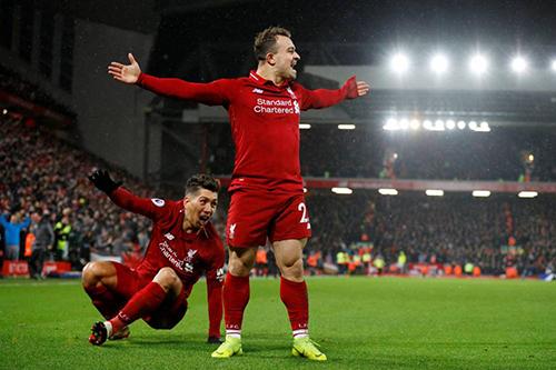 ليفربول يتفوق على ضيفه مانشستر يونايتد بثلاثية
