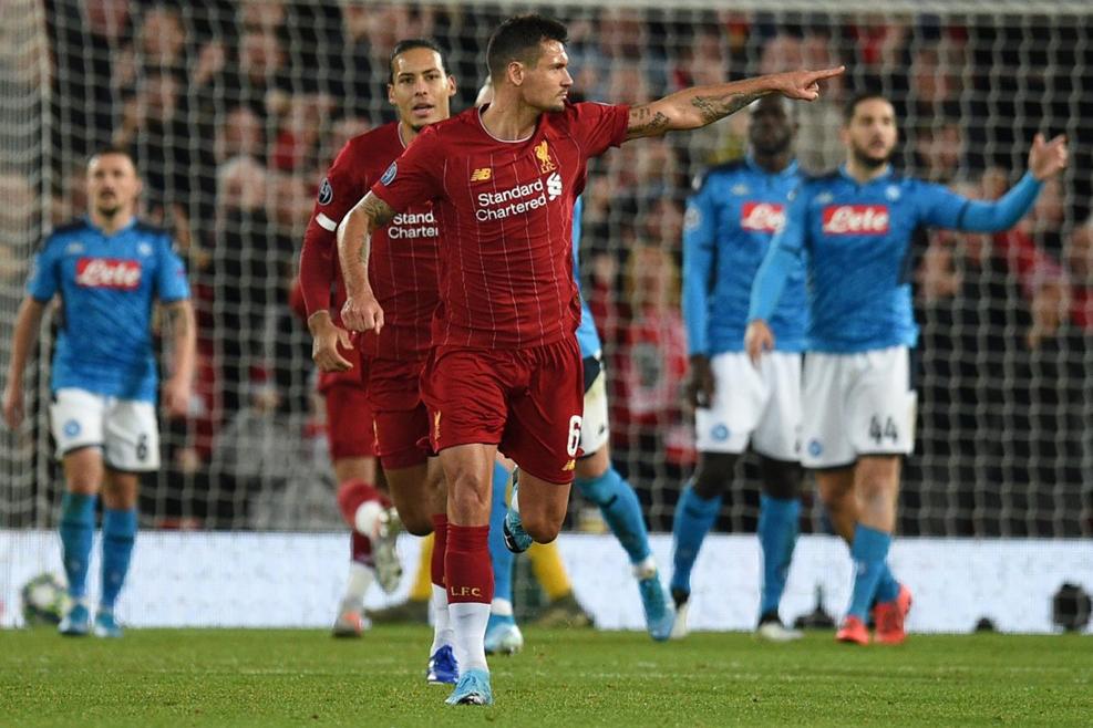 ليفربول يتعادل مع نابولي ويحتفظ بصدارة المجموعته