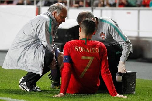 صدمة قوية في البرتغال ويوفينتوس بعد إصابة رونالدو مع المنتخب