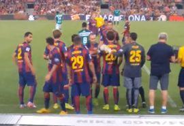 ها يلعب برشلونة في الدوري الفرنسي؟