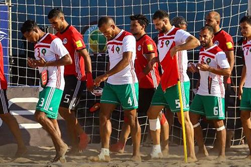 """المنتخب المصري يقسو على """"الأسود"""" بسداسية في افتتاح """"كان"""" الكرة الشاطئية"""