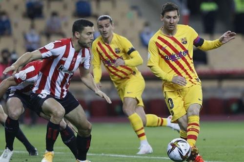 برشلونة يهزم بيلباو برباعية ويتوج بلقب كأس ملك إسبانيا