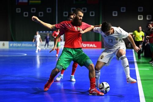 """المنتخب المغربي للفوتصال يستهل """"كان"""" العيون بثلاثية في شباك ليبيا"""