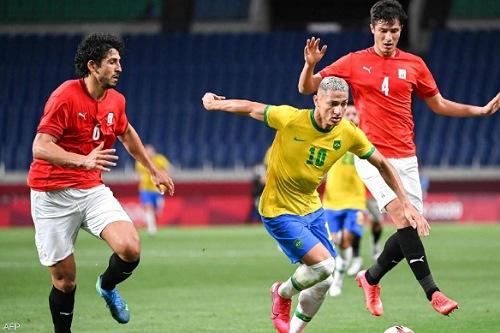 البرازيل تنهي مشوار مصر في منافسات الكرة الأولمبية