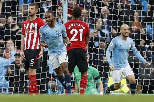 مانشستر سيتي يستعيد صدارة الدوري الانجليزي بسداسية أمام ساوثهامبتون