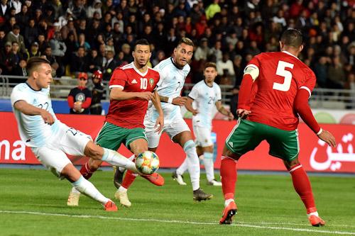 رياح  الأرجنتين تعصف بالمنتخب المغربي بهدف نظيف في ودية طنجة