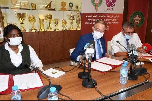 لقجع: الجامعة وقعت اتفاقية تاريخية لتطوير كرة القدم النسوية