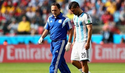 الأرجنتين تخسر أغويرو أمام سويسرا