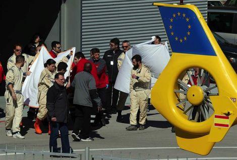 ألونسو ينجو من حادث تصادم شديد أثناء تجارب فورمولا 1