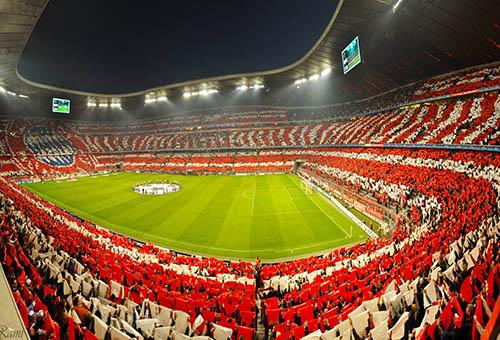 آليانز آرينا.. الملعب الأكثر اكتظاظاً في أوروبا