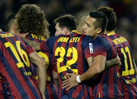 برشلونة يضرب ألميريا برباعية