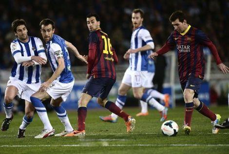 سوسييداد يصعق برشلونة بثلاثية ويمنح ريال مدريد الصدارة