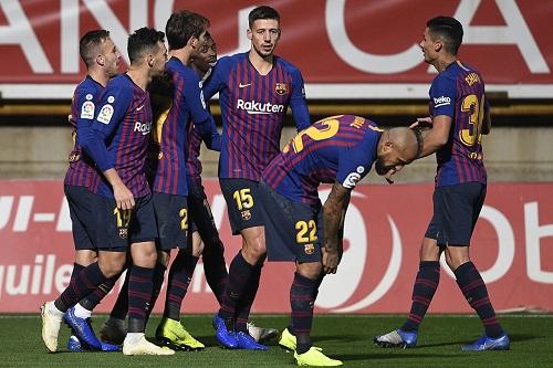 برشلونة يخطف فوزا في آخر الأنفاس أمام كولتورال ليونيسا في كأس الملك
