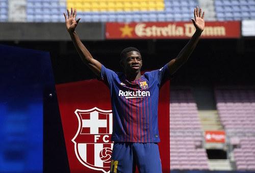 برشلونة يقدم ديمبلي لجماهيره في كامب نو