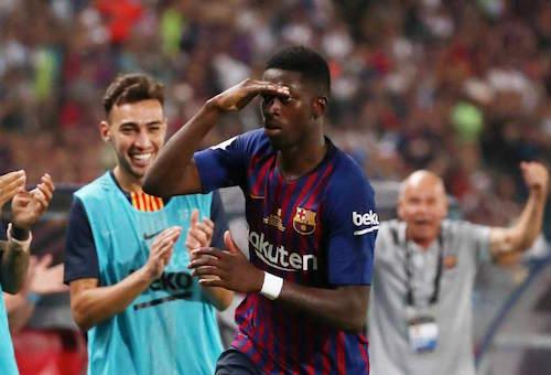 """ديمبيلي ينقذ برشلونة من """"كمين"""" بلد الوليد في الدوري الإسباني"""