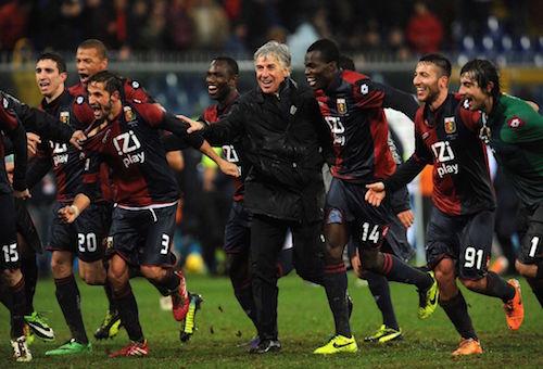 جنوى يسقط إنتر ميلان بثنائية ويدخله مرحلة الخطر في الدوري الإيطالي