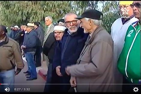 جنازة الدولي السابق عبد الله الزهر
