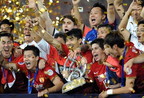 غوانغزو يحرز الدوري الصيني للمرة السابعة على التوالي