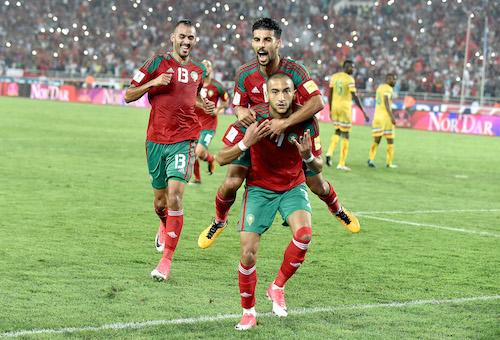 المنتخب المغربي يمطر شباك مالي بسداسية وينعش آماله في التأهل إلى مونديال روسيا