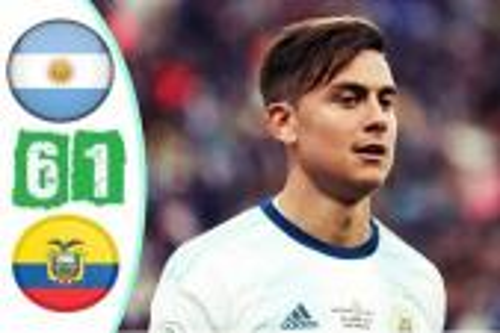 الأرجنتين 6-1 الإكوادور