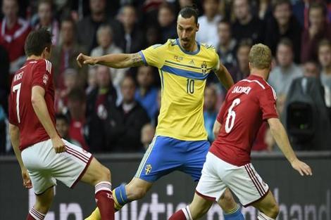 ثنائية إبراهيموفيتش تقود السويد ليورو 2016