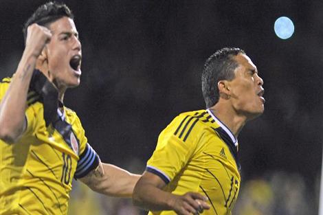 خاميس يتدرب منفردا استعدادا لكولومبيا