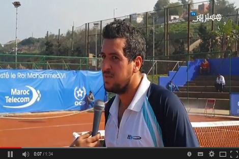 مع لاعب التنس المغربي لمين وهاب