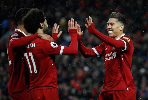 """صلاح يقود ليفربول """"لغزو الرومان"""" بخماسية والاقتراب من نهائي دوري أبطال أوروبا"""