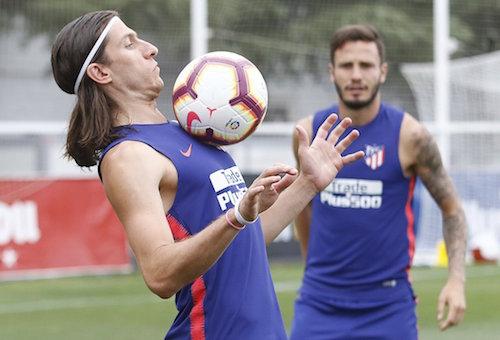 أتلتيكو مدريد يستعد لودية إنتر ميلان