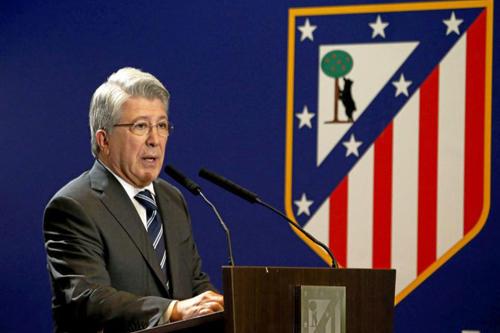 """رئيس أتلتيكو مدريد: نتمنى أن تكون """"الثالثة ثابتة"""""""