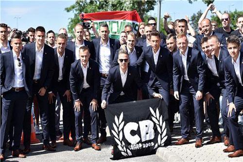 المنتخب المجري يتوجه إلى فرنسا للمشاركة في اليورو