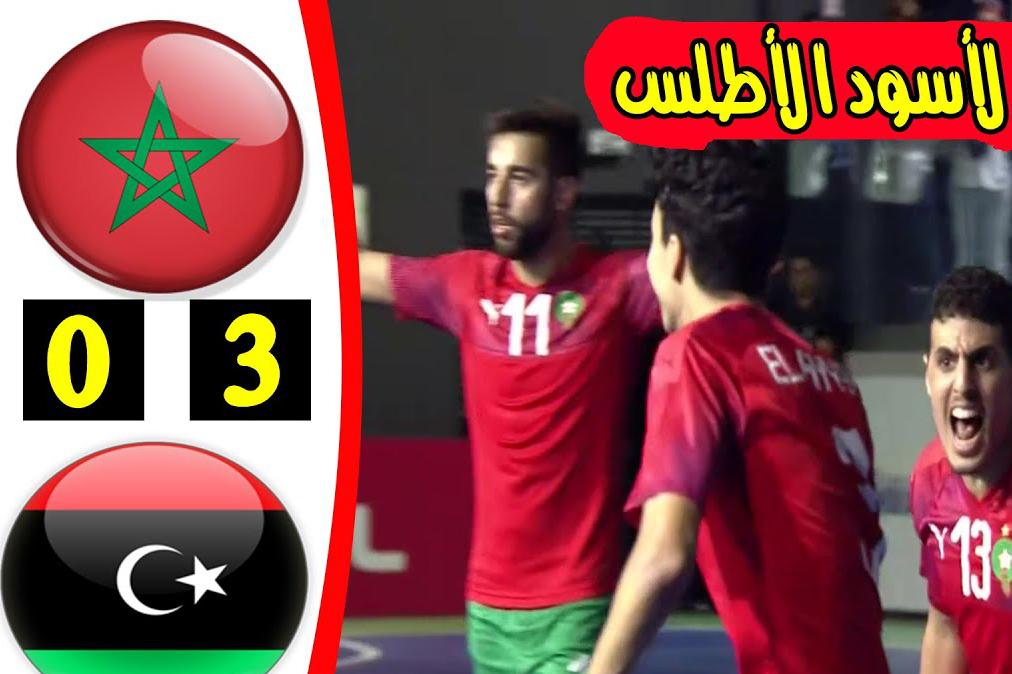 أهداف الأسود أمام ليبيا
