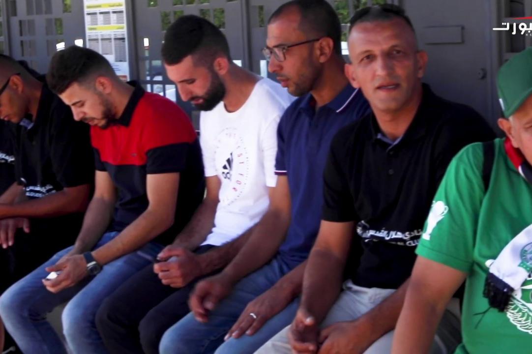 فلسطينيون بمَقَرّ الرجاء