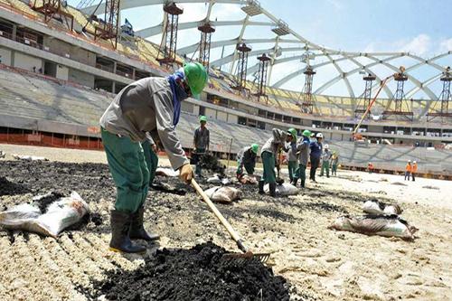 نقابة عمالية عالمية تعتزم تفتيش مواقع مونديال قطر