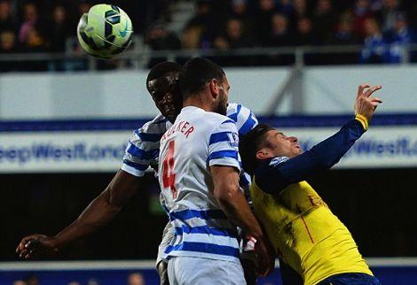 لاعب QPR يتعرض لتشوه في الوجه خلال مباراة غاب عنها تاعرابت