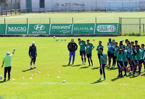 استعدادات الرجاء لافتتاح البطولة