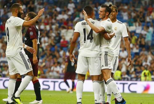 """ريال مدريد يستعد لمباراة السوبر الأوروبي بالفوز على ميلان في كأس """"سانتياغو برنابيو"""""""