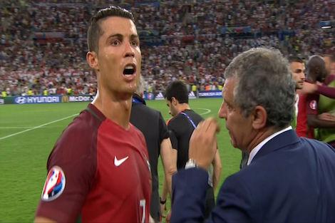 رونالدو يُحفز لاعبي البرتغال